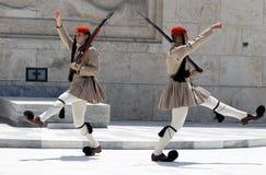 Ändern der Abdeckungen Athen Stockbild