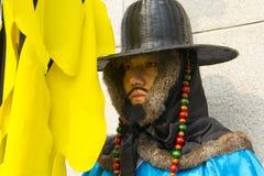 Ändern der Schutzzeremonie an Gyeongbokgungs-Palast Stockbilder