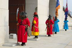 Ändern der Schutzzeremonie an Gyeongbokgungs-Palast Lizenzfreies Stockbild