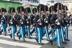 Ändern des Schutzes der Ehre in Kopenhagen stockbild