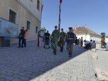 Ändern des Schutzes der Ehre in Prag-Schloss lizenzfreie stockfotos