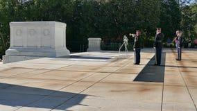 Ändern des Schutzes am Grabmal des unbekannten Soldaten stock video