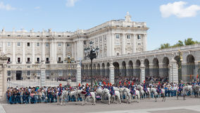 Ändern des Schutzes Guard, Madrid Lizenzfreie Stockfotos