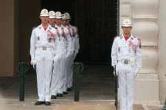 Ändern des Schutzes in Monte Carlo, Monaco Stockfotografie