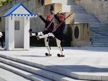 Ändern des Schutzes nahe dem Parlament in Athen Lizenzfreie Stockfotografie