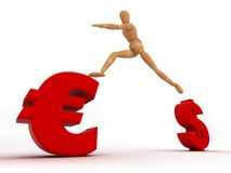 Ändern Sie Bargeld (mit Ausschnittspfad) Lizenzfreie Stockbilder