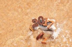 Ändern Sie bis 2017 mit weicher Welle Lizenzfreie Stockfotos