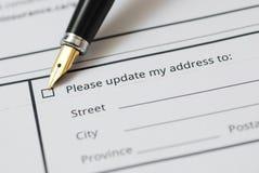 Ändern Sie bitte meine Adresse Lizenzfreies Stockbild