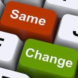 Ändern Sie die gleiche Schlüssel-Show-Entscheidung und Verbesserung Lizenzfreie Stockbilder