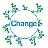 Ändern Sie die grün-blauen abstrakten Kreis Quadrate lizenzfreie abbildung