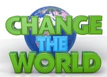 Ändern Sie die Welt vektor abbildung