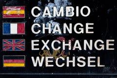 Ändern Sie in Europa lizenzfreie stockfotos