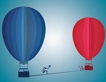 Ändern Sie Herausforderung und warnen Sie Geschäftsmotivkonzept als PET vektor abbildung