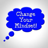 Ändern Sie Ihre Denkrichtungs-Durchschnitte denken an es und das Reflektieren stock abbildung