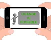 Ändern Sie ist mögliche Telefon-Durchschnitte überdenken und verbessern lizenzfreie abbildung
