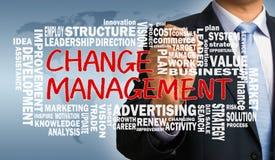 Ändern Sie Management mit in Verbindung stehender Wortwolke Lizenzfreie Stockfotografie