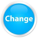 Ändern Sie runden Knopf des erstklassigen Cyanblaus Stockbild