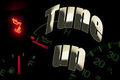 Ändern Sie Schmierölservice-Motorleuchte justieren oben Stockfoto