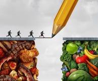 Ändern zum strengen Vegetarier lizenzfreie abbildung