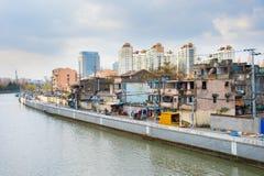 Ändernde Architektur von Shanghai, China Lizenzfreie Stockfotos