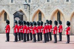 Ändernde Schutzzeremonie in Windsor Castle, England Lizenzfreie Stockfotografie