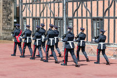 Ändernde Schutzzeremonie in Windsor Castle, England Stockfotografie
