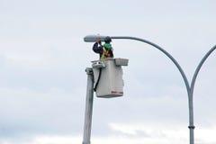 Ändernde Stadt-Straßenlaterne Stockbilder