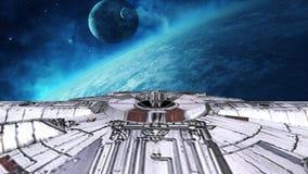 Ändernder Kurs des Shuttles stock footage