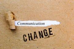 Änderung - Kommunikation - erfolgreiche Strategien für Änderung Stockbild
