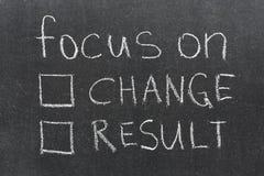 Änderung oder Ergebnis Stockfotos