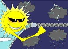 Änderungen des falschen Wetters am sonnigen Tag Lizenzfreies Stockfoto