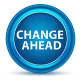 Änderungs-voran Augapfel-blauer runder Knopf lizenzfreie abbildung