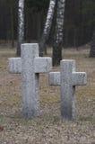 Ändlös kyrkogård i Polen Arkivfoto