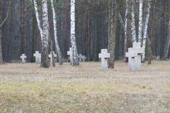 Ändlös kyrkogård i Polen Arkivbild