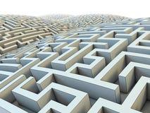 Ändlös labyrint royaltyfri illustrationer