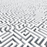 ändlös maze Arkivbilder