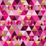 Ändlös modell för geometri med färgrika trianglar royaltyfria foton