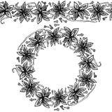 Ändlös modellborste, rund girland med Anise Star Seeds, stycken av tärnade Apple, vaniljfröskida, kryddnejlikor Kransram av smakt Royaltyfri Bild