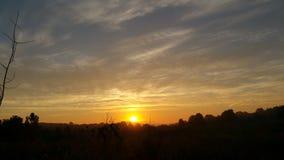 Ändlös PA-soluppgång Fotografering för Bildbyråer