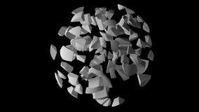Ändlös rotationsögla av en abstrakt explosion stock video