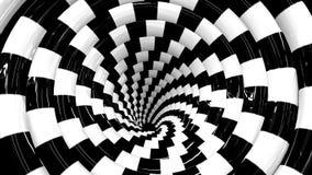 Ändlös roterande hypnotisk spiral loopable animering vektor illustrationer
