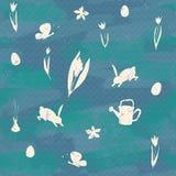 Ändlös textur för vårdesignen, garnering, hälsningkort royaltyfria foton