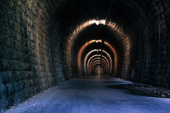 Ändlös tunnel som abstrakt bakgrund Royaltyfria Bilder