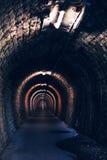 Ändlös tunnel som abstrakt bakgrund Fotografering för Bildbyråer