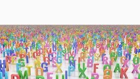 Ändlösa alfabetbokstäver Arkivfoto