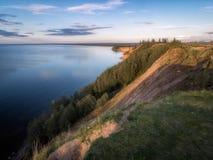 Ändlösa vidder av Onega sjön arkivbilder