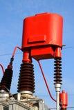 Ändra apparaten en aktuell transformator för förhållande för hög spänning Fotografering för Bildbyråer