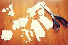 Ändra av geoen - politiskt läge i Europa royaltyfria foton