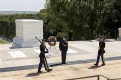 Ändra av vakten, Arlington kyrkogård fotografering för bildbyråer