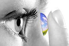 ändra den din världen Fotografering för Bildbyråer